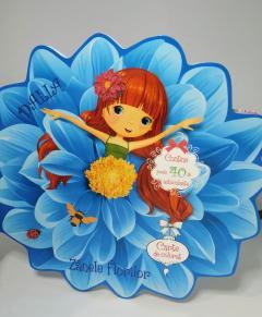 Dalia. Carte de colorat si autocolante-Zanele florilor 0