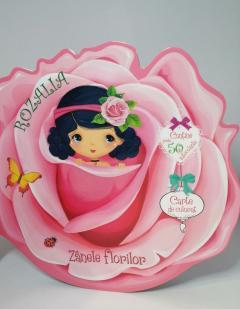 Rozalia Carte de colorat si autocolante-Zanele florilor 0