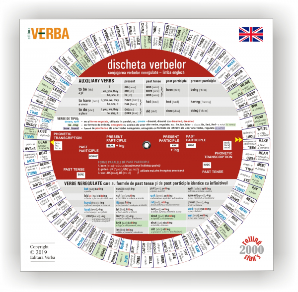 Discheta verbelor neregulate - limba engleză - Ediția 2019 0