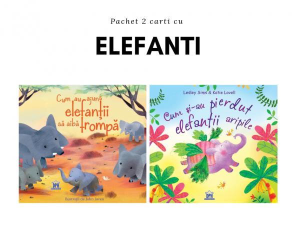 Pachet 2 cărți cu Elefanți 0