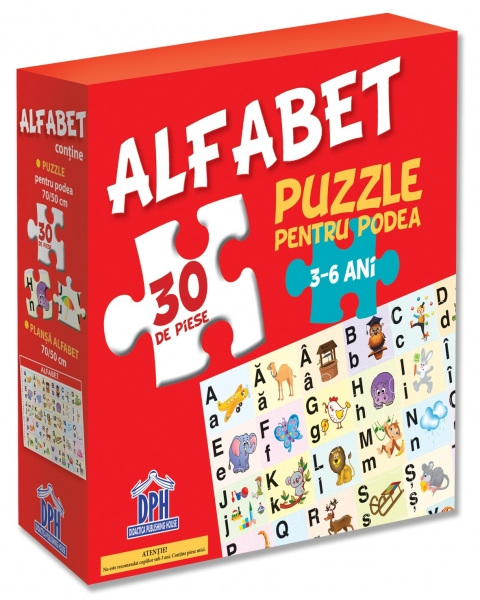 Puzzle pentru podea - Alfabet 0