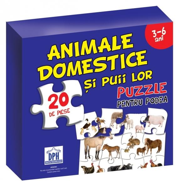 Puzzle pentru podea - Animale domestice 0