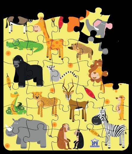 Animale din Africa: Puzzle [2]