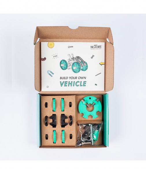 BuggyBit - 3 În 1 Green Vehicle Kit The OFFBITS - Set De Construit Cu Șuruburi Și Piulițe 1
