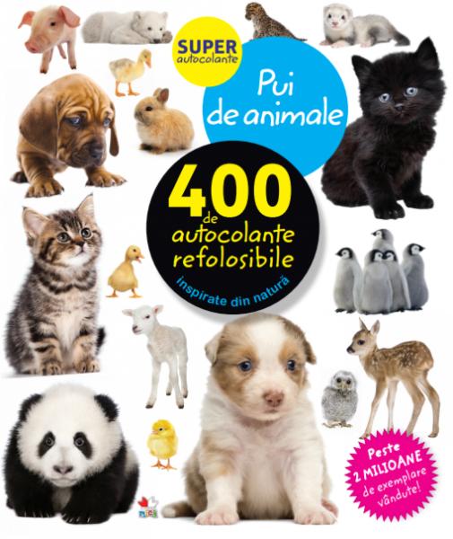 Pui de animale. 400 de autocolante refolosibile 0