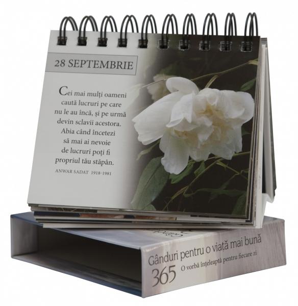 """Calendarul """"365 de gânduri pentru o viață mai bună"""" 1"""
