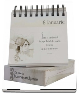"""Calendarul """"365 de zile pline de bucurie și mulțumire"""" 1"""