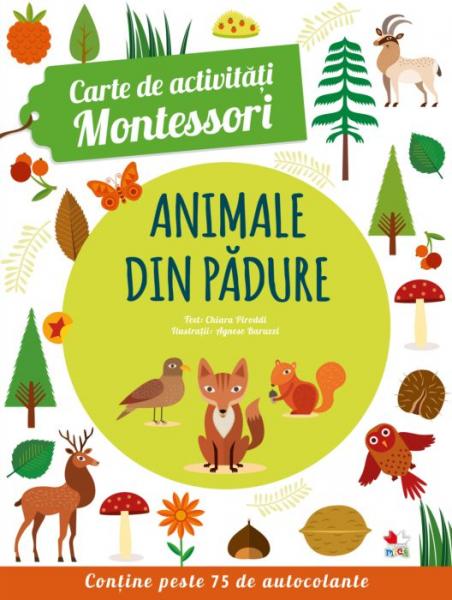 Carte de activitati Montessori. Animale din padure 0