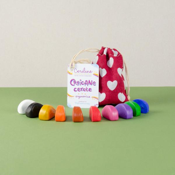 Ceriline - creioane cerate ergonomice, pachet 10 culori 1