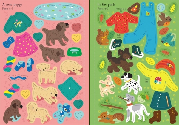 Little sticker dolly dressing Puppies 2