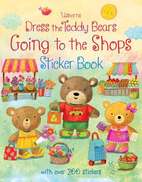 Dress the teddy bears going to the shops sticker book 0