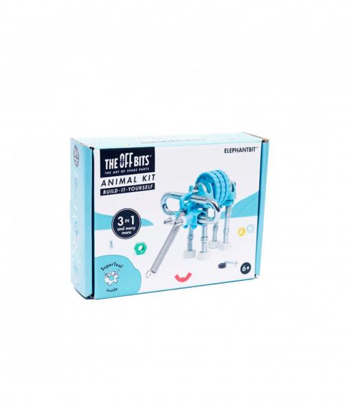 ElephantBit - 3 În 1 Animal Kit The OFFBITS - Set De Construit Cu Șuruburi Și Piulițe 1