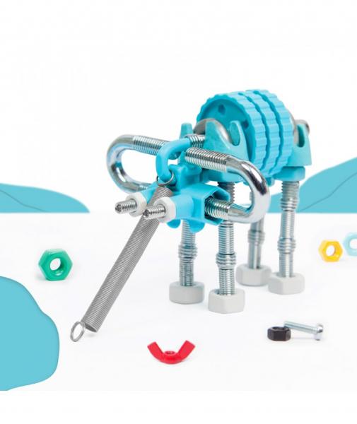ElephantBit - 3 În 1 Animal Kit The OFFBITS - Set De Construit Cu Șuruburi Și Piulițe 2