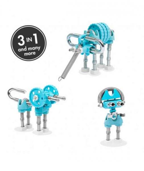 ElephantBit - 3 În 1 Animal Kit The OFFBITS - Set De Construit Cu Șuruburi Și Piulițe 0