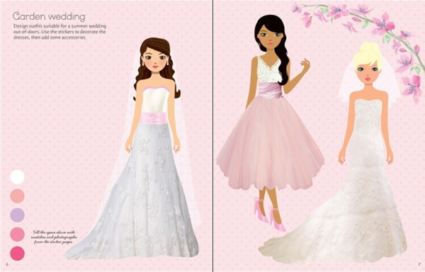 Sticker dolly dressing - Fashion designer wedding collection 1