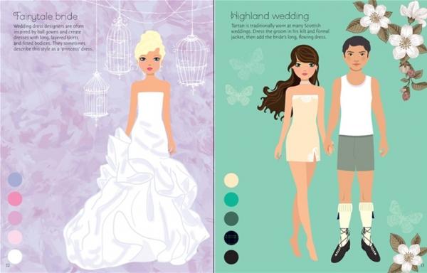 Sticker dolly dressing - Fashion designer wedding collection 2