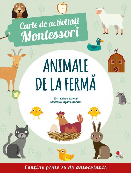 Carte de activitati Montessori: Animale de la ferma 0
