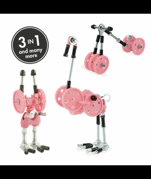 FlamingoBit - 3 În 1 Animal Kit The OFFBITS - Set De Construit Cu Șuruburi Și Piulițe 0