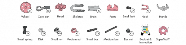 FlamingoBit - 3 În 1 Animal Kit The OFFBITS - Set De Construit Cu Șuruburi Și Piulițe 2