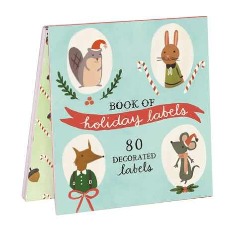 Holiday Forest Friends Label 0