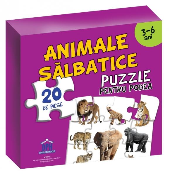 PUZZLE PENTRU PODEA - ANIMALE SĂLBATICE 0