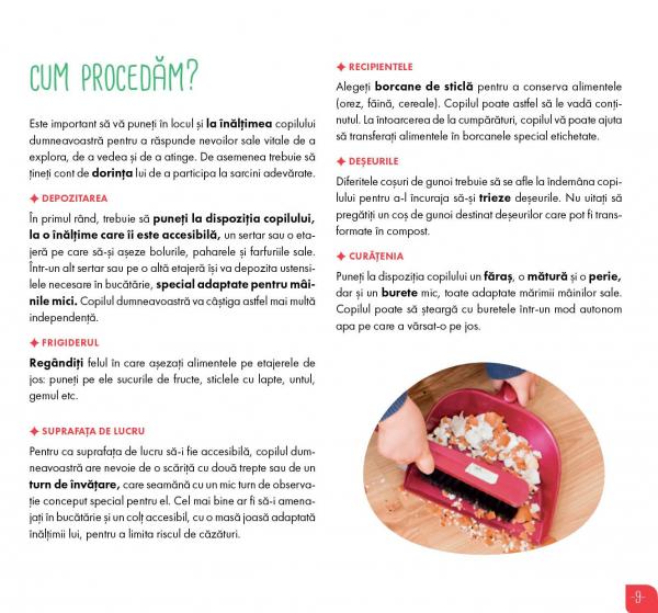 Eu gatesc, eu cresc!: Montessori - 35 de retete savuroase care va ajuta copilul sa-si dezvolte autonomia! 6