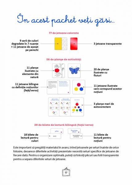 Explorez culorile cu Montessori - In Romana si in Engleza - 163 de jetoane pentru dezvoltarea vocabularului si a creativitatii [3]