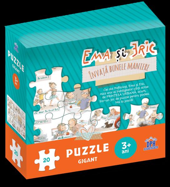 Ema si Eric invata bunele maniere - Puzzle gigant 0
