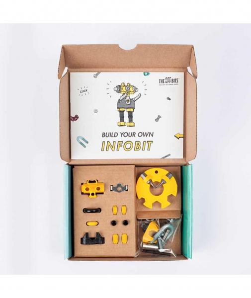 InfoBit - 3 În 1 Character Kit The OFFBITS - Set De Construit Cu Șuruburi Și Piulițe 2
