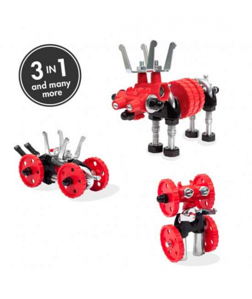 MooseBit - 3 În 1 Animal Kit The OFFBITS - Set De Construit Cu Șuruburi Și Piulițe 0