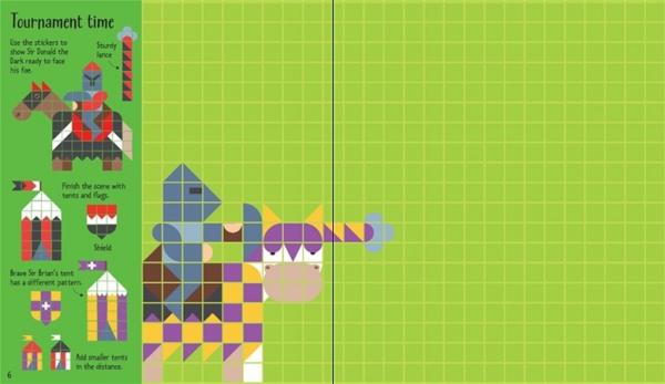 Mosaic sticker Castles 2