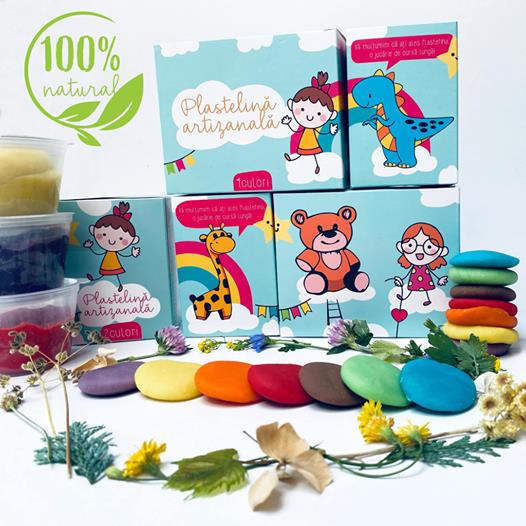 Plastelină naturală - pachet 10 culori 0