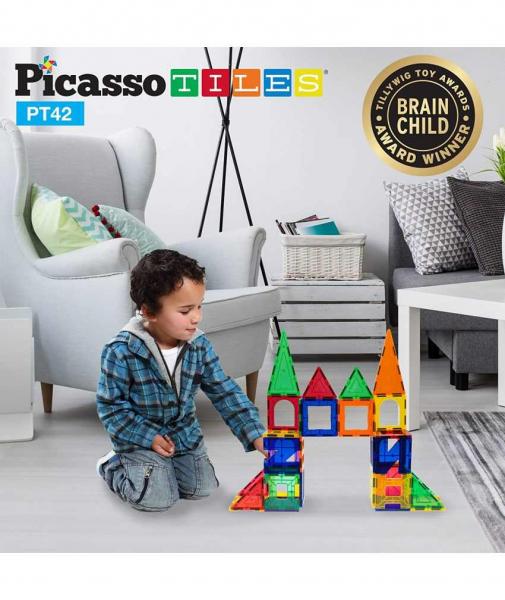 Set Picasso Tiles - 42 De Piese (6 Forme Diferite) 1