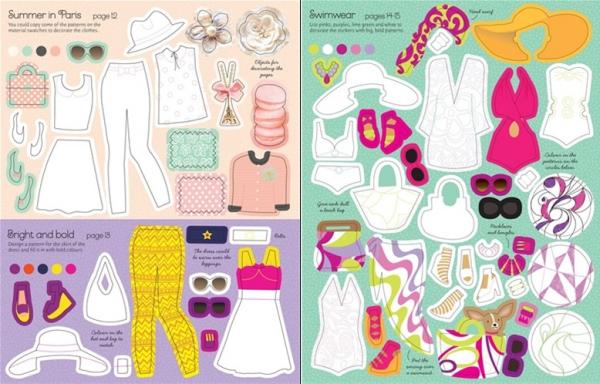Sticker Dolly Dressing - Fashion designer summer collection 2