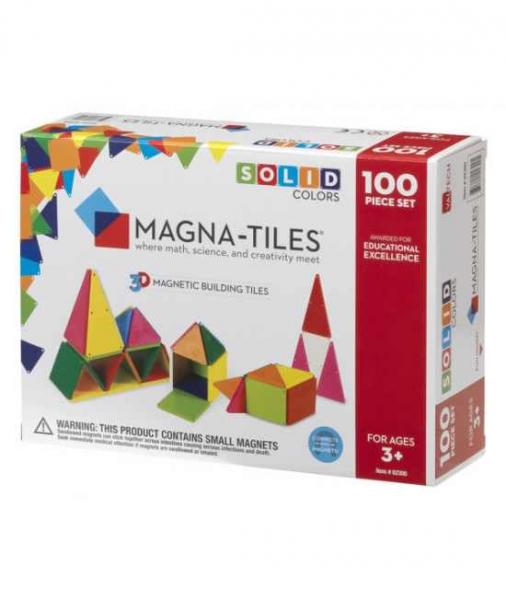 Set Magna-Tiles - 100 Piese Magnetice De Construcție Colorate 0