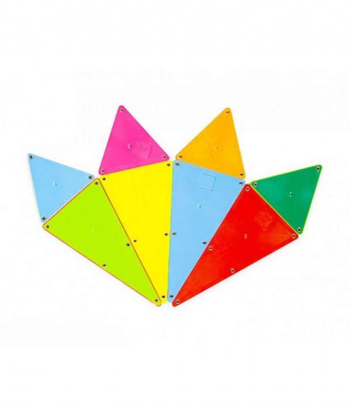 Set Magna-Tiles - 100 Piese Magnetice De Construcție Colorate 1