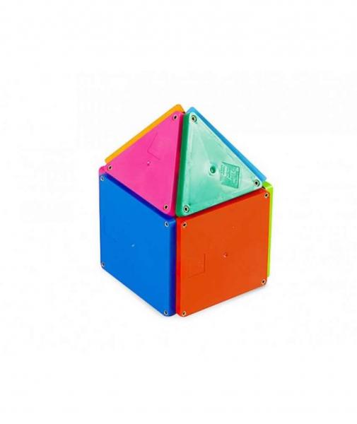 Set Magna-Tiles - 100 Piese Magnetice De Construcție Colorate 2
