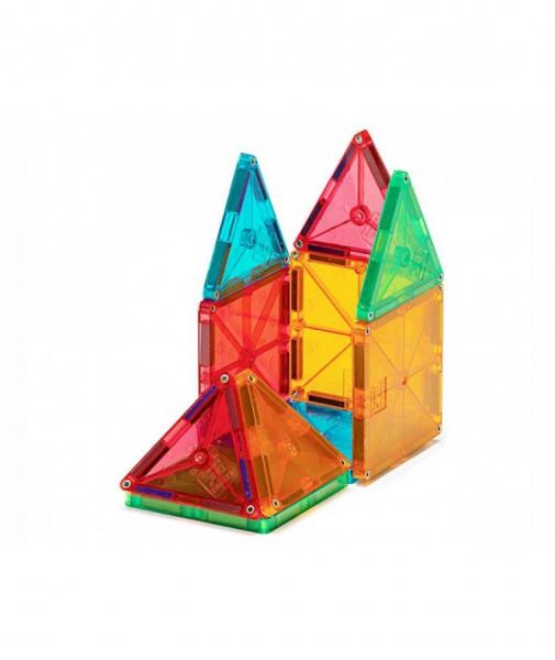 Set Magna-Tiles - 100 Piese Magnetice De Construcție Transparente Colorate 1