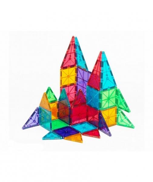 Set Magna-Tiles - 32 Piese Magnetice De Construcție Transparente Colorate 2