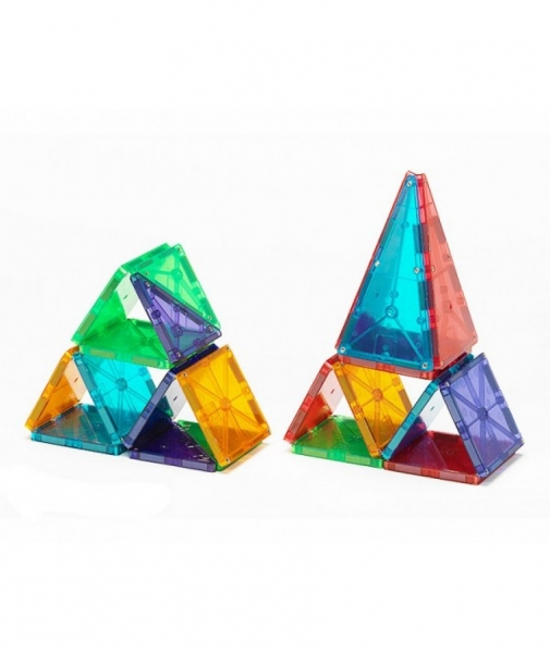 Set Magna-Tiles - 32 Piese Magnetice De Construcție Transparente Colorate 1
