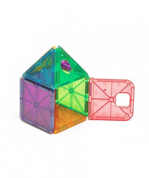 Set Magna-Tiles Deluxe - 48 Piese Magnetice De Construcție Transparente Colorate 2
