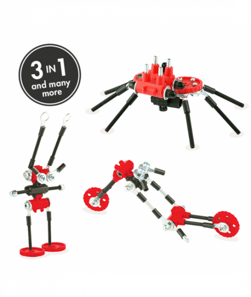 SpiderBit - 3 În 1 Animal Kit The OFFBITS - Set De Construit Cu Șuruburi Și Piulițe 0