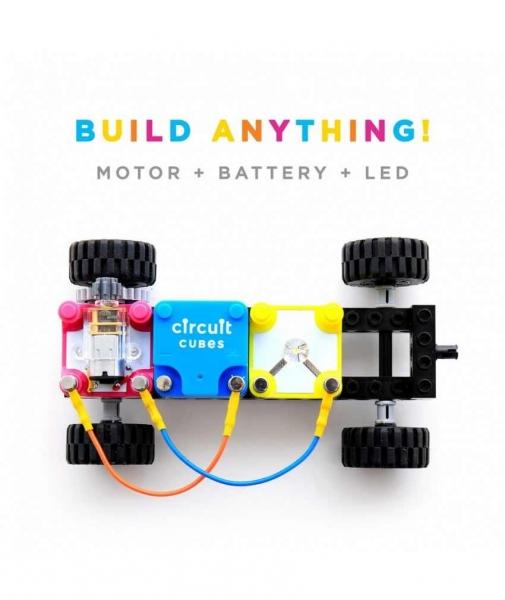 Circuit Cubes - Kit Mașină Whacky cu Roți 1