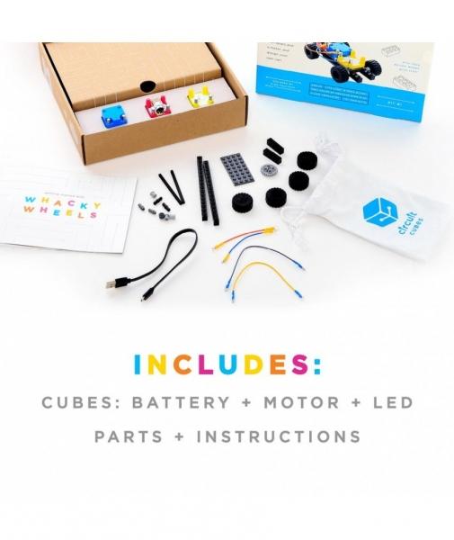 Circuit Cubes - Kit Mașină Whacky cu Roți 2