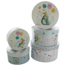 Beatrix Potter Round Storage Box --Set of 5 0
