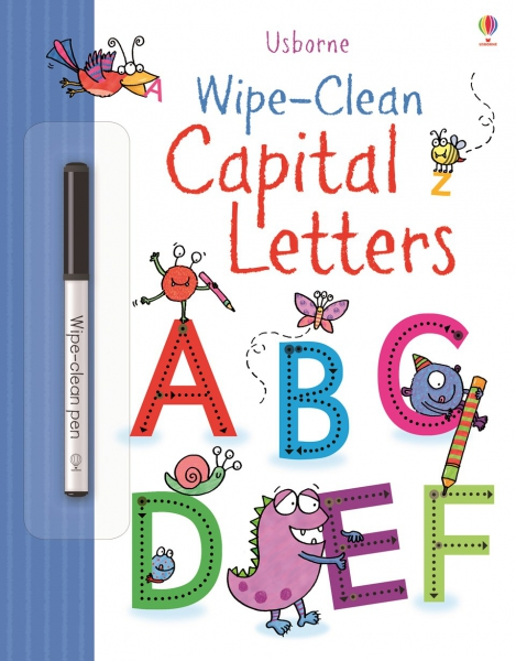 Wipe-clean capital letters 0