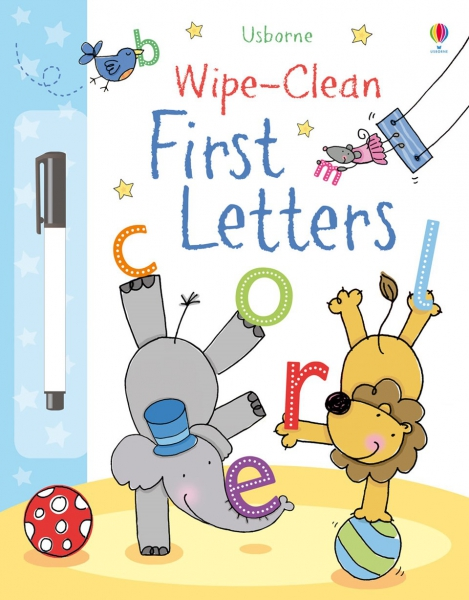 Wipe-clean first letters 0