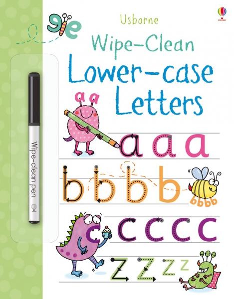 Wipe-clean lower-case letters 0