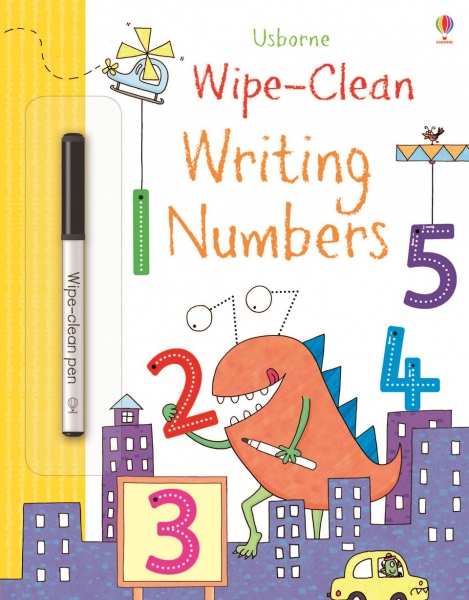 Wipe-clean writing numbers 0