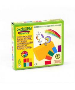 6 Creioane Cerate Naturale Blocuri ÖkoNORM Nawaro Unicorn1